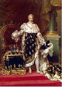Jean Urbain Guerin Portrait of the King Charles X of France in his coronation robes oil painting artist