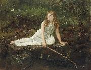 John Collier Der Schmetterling oil painting artist