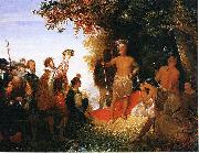 John Gadsby Chapman The Coronation of Powhatan oil painting artist