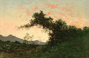 Jules Tavernier Marin Sunset in Back of Petaluma by Jules Tavernier oil painting artist