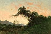 Jules Tavernier Marin Sunset in Back of Petaluma oil painting artist