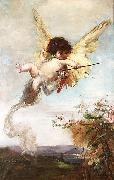 Julius Kronberg Cupid with a Bow oil painting artist