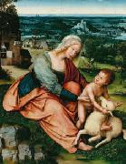 Quentin Matsys Madonna and Child with the Lamb. oil painting artist