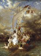 William Etty Youth on the Prow and Pleasure at the Helm oil painting artist