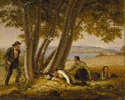William Sidney Mount Caught Napping oil painting artist