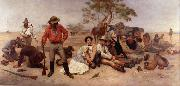 William Strutt Bushrangers, Victoria, Australia, oil painting artist
