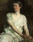 Abbot H Thayer Young Woman oil painting artist
