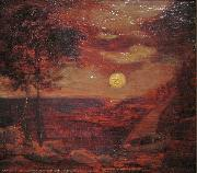 Albert Pinkham Ryder The Lovers' Boat oil painting artist