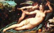 Alessandro Allori Venus and Cupid oil painting artist