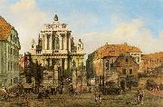 Bernardo Bellotto Carmelite Church in Warsaw. oil painting artist