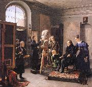 Carl Christian Vogel von Vogelstein Ludwig Tieck sitting to the Portrait Sculptor David dAngers oil painting artist