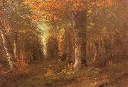 Courbet, Gustave Forest in Autumn oil painting artist