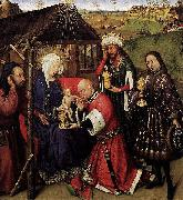 DARET, Jacques Altarpiece of the Virgin oil painting artist