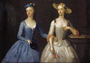 Enoch Seeman Lady Sophia and Lady Charlotte Fermor oil painting artist
