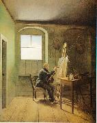 Georg Friedrich Kersting Caspar David Friedrich in seinem Atelier oil painting artist