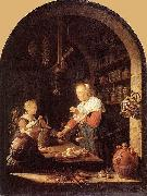 Gerard Dou The Grocer's Shop oil painting artist
