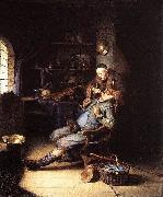 Gerrit Dou The Extraction of Tooth oil painting artist