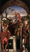 Giovanni Bellini Sts Christopher oil painting artist