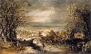 Joos de Momper Winter Landscape with The Flight into Egypt oil painting artist