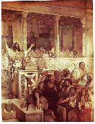 Maurycy Gottlieb Christ Preaching at Capernaum oil painting artist