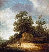 Pieter de Molijn Pastoral Landscape with Tobias and the Angel oil painting artist