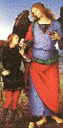Pietro Perugino Tobias with the Angel Raphael oil painting artist