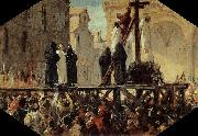 Stefano Ussi The Execution of Savonarola oil painting artist