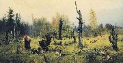 Vasily Polenov Burnt Forest oil painting artist