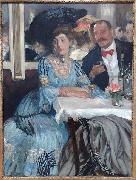William Glackens At Mouquin's oil painting artist