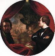 William James Hubard Mann S. Valentine and the Artist oil painting artist