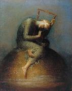 george frederic watts,o.m.,r.a. Hope oil painting artist