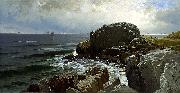 Alfred Thompson Bricher Castle Rock, Marblehead oil painting artist