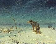 Alfred de Dreux The lone Wolf oil painting artist