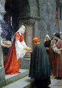 Edmund Blair Leighton The Charity of St Elizabeth of Hungary oil painting artist