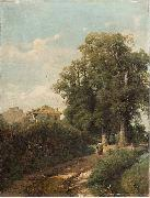 Eugenio Gignous The Environs of Milan oil painting artist