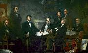 Francis B. Carpenter First Reading of the Emancipation Proclamation of President Lincoln oil painting artist