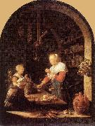 Gerrit Dou The Grocers Shop oil painting artist