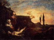 LISS, Johann Adam and Eve Mourning for Abel oil painting artist