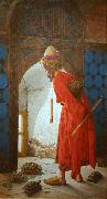 Osman Hamdy Bey The Tortoise Trainer oil painting artist
