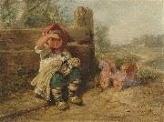 Wilhelm Busch Waiting for friends oil painting artist