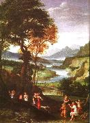 Gian  Battista Viola Landscape with Meleager and Atlanta oil painting picture wholesale