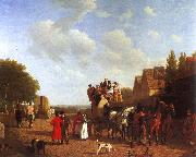 Agasse, Jacques-Laurent The Last Stage on the Portsmouth Road oil painting picture wholesale
