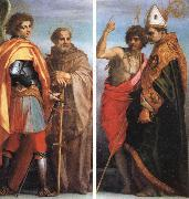 Andrea del Sarto SS.Michael the Archangel and John Gualbert SS.John the Baptist and Bernardo degli berti oil painting picture wholesale