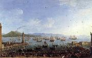 Antonio Joli The Embarkation of Charles III in the Port of Naples oil painting artist