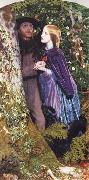 Arthur Hughes The Long Engagement oil painting artist