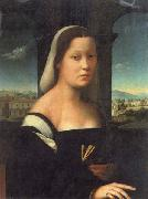 BUGIARDINI, Giuliano Portrait of a Woman oil painting artist
