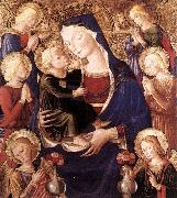 CAPORALI, Bartolomeo Virgin and Child with Angels f oil painting artist