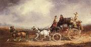 Charles Cooper The Edinburgh-London Royal Mail on the Road oil painting artist