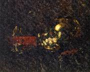 Chase, William Merritt Still Life with Brass Bowl oil painting artist