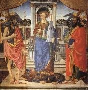 Cosimo Rosselli St.Barbara between SS.John the Baptist and Matthew oil painting artist